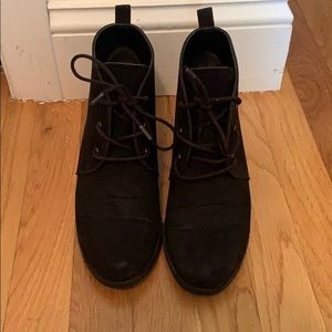 Franco Sarto lace up wedge booties. PRICE FIRM